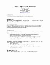 Computer Science Graduate Resume Fresh Samples Skills Best Skill Set Awesome Examples