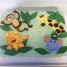 4233 Baby Shower Jungle Cake CAFÉ PIERROT
