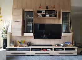 wohnwand anbauwand wohnzimmer ohne deko in 09235