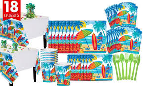 Sun And Surf Beach Basic Party Kit For 18 Guests