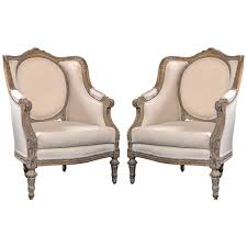 louis xvi chair antique pair of vintage louis xvi style bergere chairs at 1stdibs