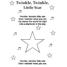 Twinkle Little Star Pic Color By Number Cooloring Pages