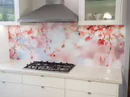Cherry Blossom Digital Printed Splashback By Graphic Glass Services