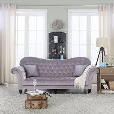 Tufted Velvet Sofa Bed by Amazon Com Classic Tufted Velvet Victorian Sofa Dark Grey