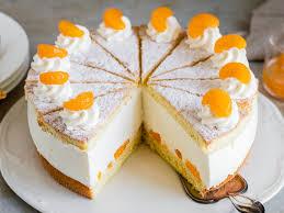 käsesahnetorte mit mandarinen einfach luftig lecker