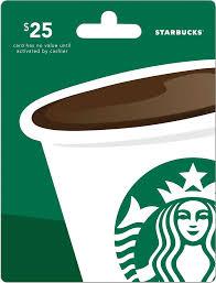 Starbucks $25 Gift Card r Front