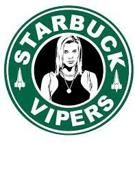 Starbuck Starbucks Logo Battlestar Galactica By Xmurderwearx 13 00 Rh Com Mini Stickers Printable