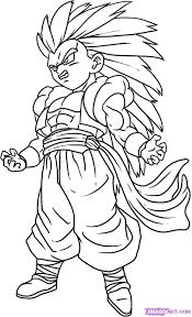 Goku Ssj 4 Dibujo Para Colorear Apanageetcom