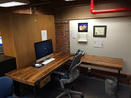 Reclaimed Wood Desk Top Office Furniture Modern Custom Wood Office Desk With Steel Pipe Legs In Choice Of Size Height And