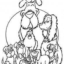 Fox Terrier Family Coloring Page
