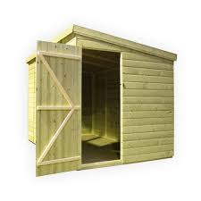 10 x 6 pressure treated tongue and groove pent shed with 3 windows