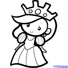 Coloring Pages Printable Beautiful Little Princess Drawing And For Kids Smiling With Many Jewelry Earings