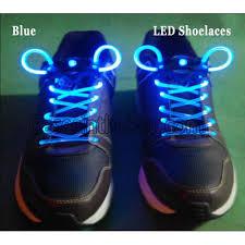 led light up shoelaces flash shoestrings blue sku1689