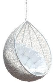 Hanging Chair Rattan Egg White Half Teardrop Wicker Hanging Chair