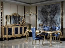 casa padrino luxus barock möbel set silber gold blau 1 sideboard mit 4 türen 1 spiegel handgefertigte barock möbel edel prunkvoll