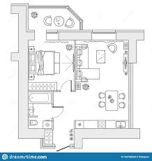 Free Floor Planning Floor Plan Of The Apartment With Arrangement Furniture