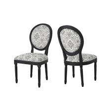 Noble House Hiro Traditional Black And White Ornate-Patterned Fabric ... Ding Chair Black Leather Kitchen Chairs Buy Fabric White And Room Sets Amazoncom Set Of 2 Modern Upholstered Naples Grey Vintage Pack Two Modish Synnes Black Rouse Home Ashford X Canterbury Lvet Fabric Ding Room Chairs Scroll Top High Back Reed Farmhouse Bri Metal Frame With Arms Colt Low Back Armchair O G Studio 4 Matching Satina With Stud Detail 82 Off Macys Patterned