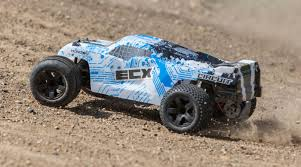ECX 1/10 Circuit 2WD Stadium Truck Brushed With LiPo RTR, White/Blue ...