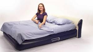 airmattress com aerobed headboard queen air mattress with built