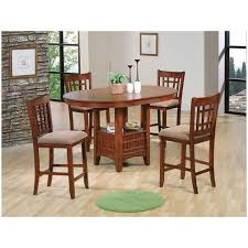 Large Picture Of Empire 2185 OAK 5 Pc Counter Height Dining Set HD