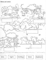 Zoo Worksheets Jugando En Inglés ZOO ANIMALS WORKSHEET Teaching