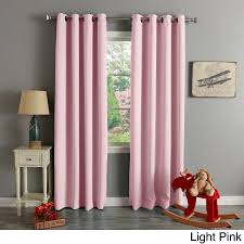 Walmart Grommet Blackout Curtains by Aurora Home Thermal Insulated Blackout Grommet Top 84 Inch Curtain
