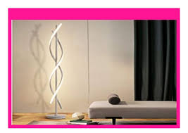 discount elinkume dimmbare stehleuchte led wei spirale