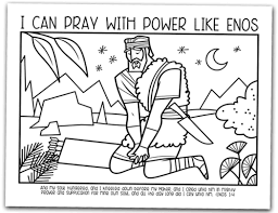 Enos Coloring Page Image From Book Of Mormon Text Added