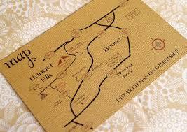 Woodgrain Letterpress Invitation Map Enclosure