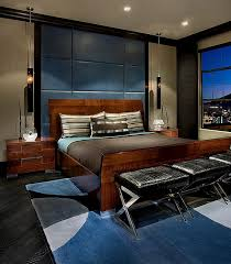 View In Gallery Rich Array Of Textures And Elegant Decor Bring Sophistication To This Urbane Bedroom By IMI Design