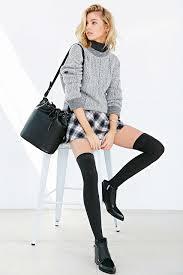 silence noise cher menswear a line mini skirt knee high socks