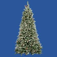 Slim Pre Lit Christmas Tree Canada by 7 5 U0027 Pre Lit Frosted Edina Fir Cones U0026 Berries Christmas Tree
