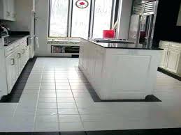 awesome white tile floor kitchen for best design and black grout