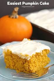 Easy Pumpkin Desserts Pinterest by Easiest Pumpkin Cake I Dig Pinterest