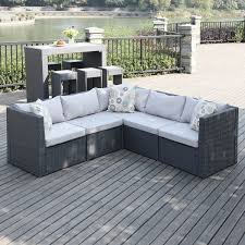 alluring small space outdoor sectional with patio furniture for