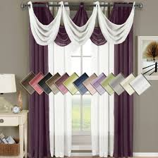 Waterfall Valance Curtain Set by Abripedic Grommet Sheer Curtains
