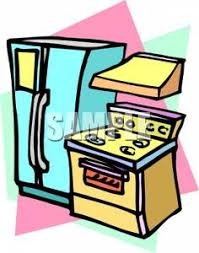 A Colorful Cartoon Of Kitchen Appliances