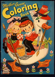 Mother Goose Coloring Book Merrill 1943
