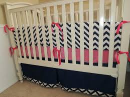 Coral And Navy Baby Bedding by Chevron Crib Bedding Add To Loading Pink Chevron Baby Bedding