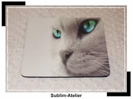 tapis de souris chat ordinateur accessoire de bureau souris
