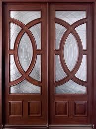 Modern Front Door Custom Double Solid Wood With Espresso