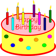 Clipart Flickering Candle Birthday Cake