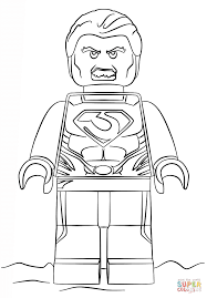 Man Of Steel Coloring Pages Lego Page Free Printable Online