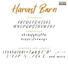 Free Harvest Barn Script Font Is A Fresh Beautiful Rustic Farmhouse