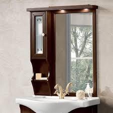 retro mara85 badezimmerschrank mit tür und regalen noce oder ivory