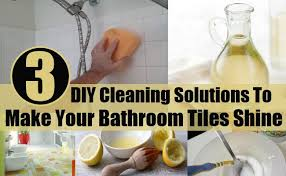3 diy cleaning solutions to make your bathroom tiles shine home