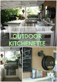 Cheap Patio Bar Ideas by Remodelaholic Outside Kitchenette