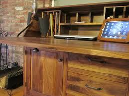 Drop Front Secretary Desk by Custom Made Black Walnut Drop Front Secretary Desk By Northeast