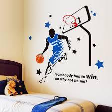 junge schlafzimmer dekoration nba basketball wandtattoo wandsticker