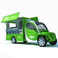 100 Green Food Truck Fly Stand 3D Model